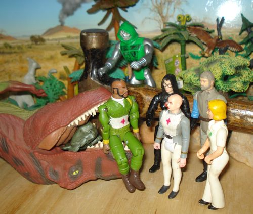 Rexford, Rexford Dinosaur, RTO, choke, nurse, Ilia, Madine, Mr. T, Doctor Doom, SRG Stegosaurus, Dinosaur Toys