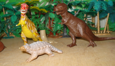 Ankylosaurus T-Rex Dinosaur Toys