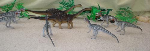 Carnegie, Saltasaurus, Deltadromeus, Dinosaur Toys