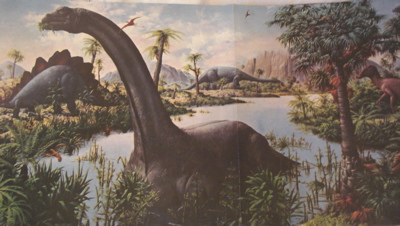 Carnegie apatosaurus most impressive of dinosaur toys for Age of reptiles mural