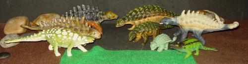 Ankylosaurus, Carnegie Collection, MARX, Dinosaur Toys