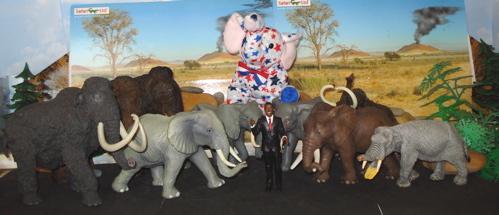Obama, Elephants, Dinosaur Toys