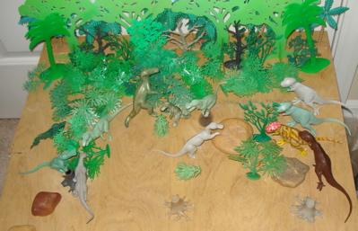 MARX hadrosaurus Dinosaur Toys