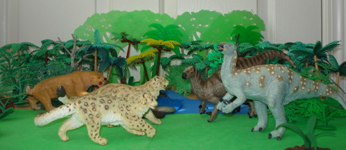 carnegie collection, iguanodon, smilodon, Dinosaur Toys
