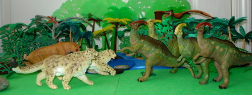 parasaurolophus, carnegie collection, smilodon, Dinosaur Toys