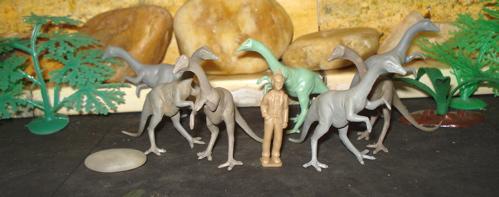 Marx toys, Marx Struthiomimus, Struthiomimus, Dinosaur toys
