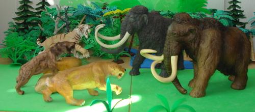 Mammoth, Safari, Papo, Dinosaur Toys
