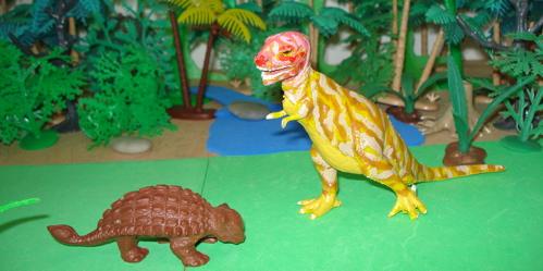 Marx Ankylosaurus Dinosaur Toys