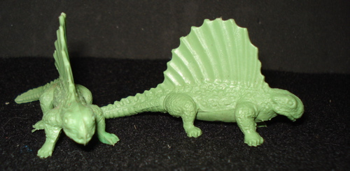 Marx Small Mold Group Dinosaur Toys