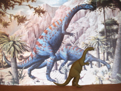 The marx plateosaurus is actually identical twin dinosaur for Age of reptiles mural