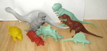 Marx Revised Mold Group Dinosaur Toys> <br clear=