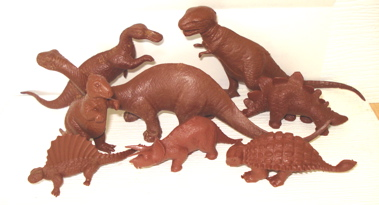 Marx Dinosaur Toys Revised Mold PL-977