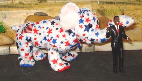 Obama Elephant, Dinosaur Toys