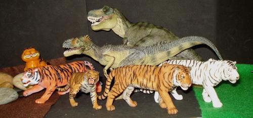 Papo, Allosaurus, Tyrannosaurus Rex, Dinosaur Toys