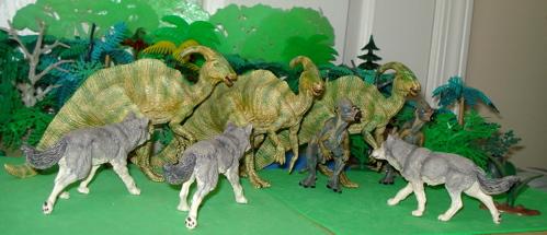 Papo, Parasaurolophus, Pachycephalosaurus, Dinosaur Toys