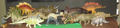 Styracosaurus, Stegosaurus, Papo, Battat, Dinosaur Toys