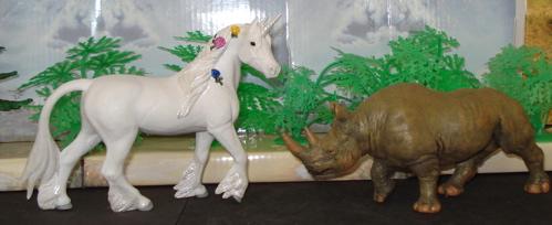Safari Ltd, Unicorn, Papo, Rhinoceros, Dinosaur Toys