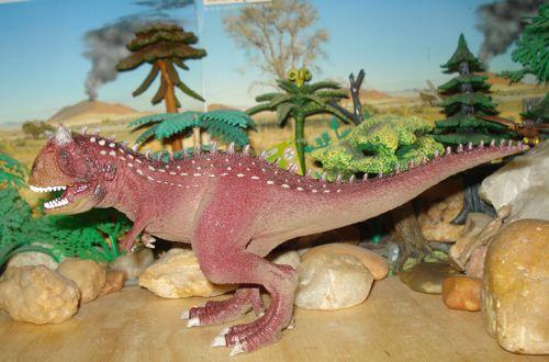 Dinosaur Toys, Carnotaurus, Schleich, movable jaw