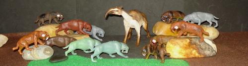 Smilodon, Marx, Inpro, Dinosaur Toys