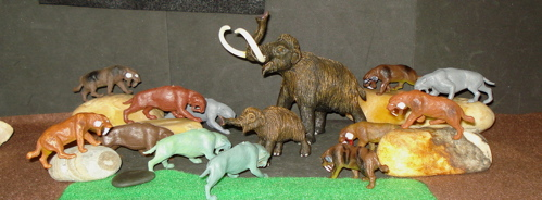 Mammoth, Smilodon, Marx, Inpro,  Dinosaur Toys
