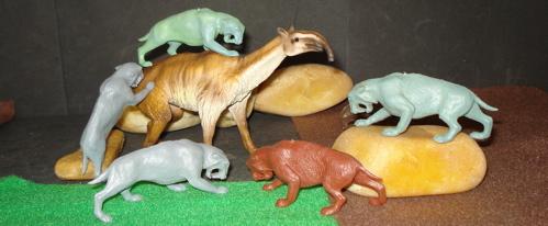 Smilodon, Marx, Schleich, Dinosaur Toys