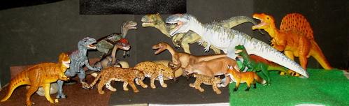 giganotosaurus, dilophosaurus, allosaurus, papo, Dinosaur Toys