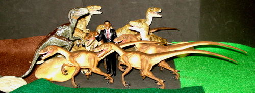 Obama, Safari Ltd, Papo,  Velociraptor, Dinosaur Toys