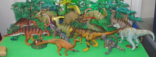 Carnegie, Collection, Papo, Parasaurolophus, Iguanodon, Dinosaur Toys