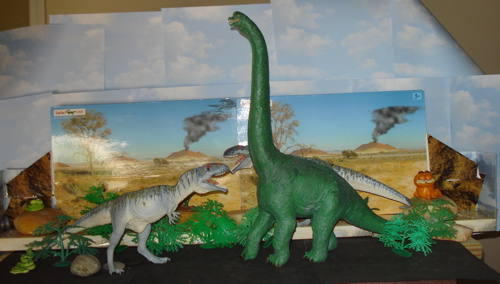 brachiosaurus, giganotosaurus, Dinosaur Toys