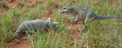 Jurassic Park Dinosaur Toys Thrasher T-Rex vs. Triceratops