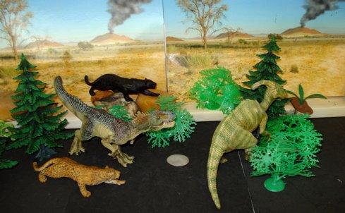 papo, parasaurolophus, allosaurus, Dinosaur Toys