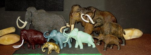 Mammoth, Marx, Papo, Carnegie Collection, Dinosaur Toys