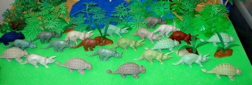 Marx, Triceratops, Ankylosaurus, Dinosaur Toys