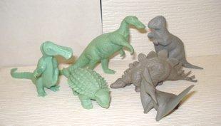 Medium Mold Group Hadrosaur Allosaur