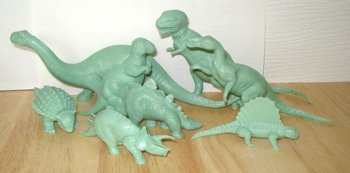 Marx Dinosaur Toys Revised Mold Group
