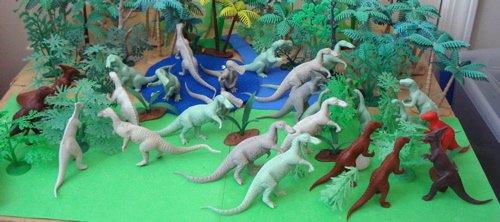 Marx, Trachodon, Hadrosaurus, Iguanodon, Struthiomimus, Dinosaur Toys