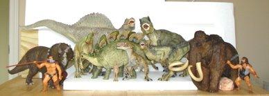 Papo Dinosaur Toys, Allosaurus, Tyrannosaurus