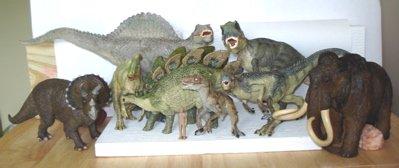 Papo Dinosaur Toys Tyannosaurus Rex Allosaurus