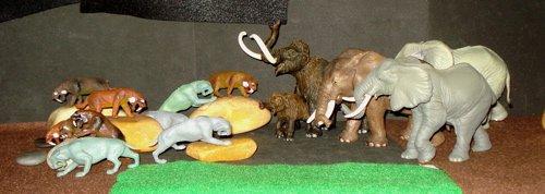 Mammoth, Smilodon, Marx, Papo, Dinosaur Toys
