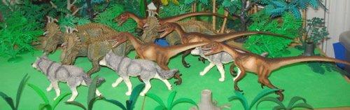 Papo, Pachyrhinosaurus, Safari Ltd, Velociraptor, Dinosaur Toys