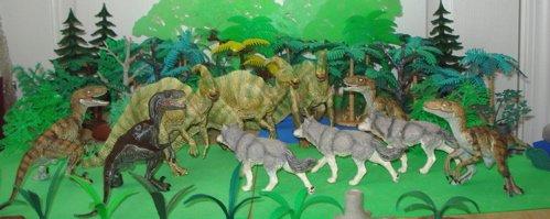 Papo, Parasaurolophus, Velociraptor, Dinosaur Toys