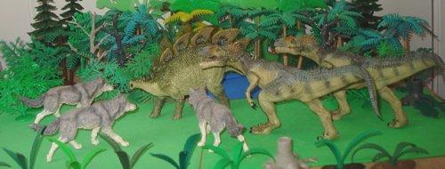 Allosaurus, Stegosaurus, Papo, Dinosaur Toys
